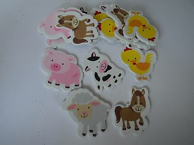 Pack Mixed Farm Yard Animals Great Addition For Cards Or Crafts