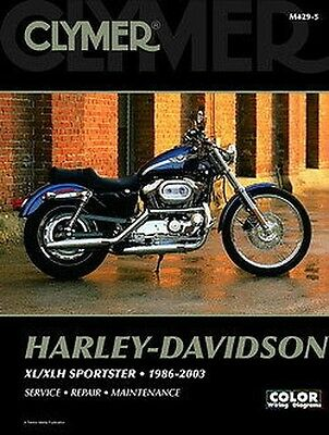 Harley Davidson Sportster 883 1200 1986-2003 Clymer Manuale M4295 NUOVO