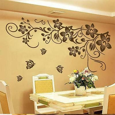 DIY Removable Butterfly Flower Vinyl Decal Art Mural  Wall Stickers Home Decor