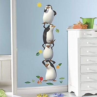 RoomMates RMK2736GM Penquins of Madagascar Peel and Stick Giant Wall Decals