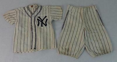 Fantastic Rare Vintage NY Yankees Child's Wool Baseball Uniform Circa 1950's