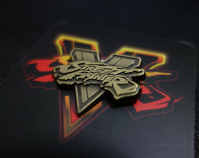 2016 Game Street Fighter 5 V Logo 3D Metal Badges Brooches Pin Collectibles