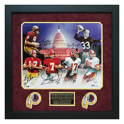 Washington Redskins Signed Framed 16x20 Baugh Jurgensen Theismann Williams + JSA