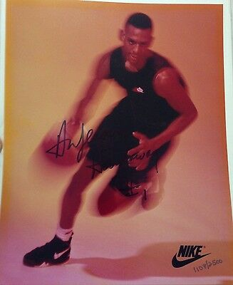 Anfernee Penny Hardaway Autographed 8X10 Photo Rare Limited Edition