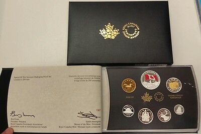 2015 Cna Pure Silver Proof Double Dollar Set - Limited To 200 - Show Exclusive