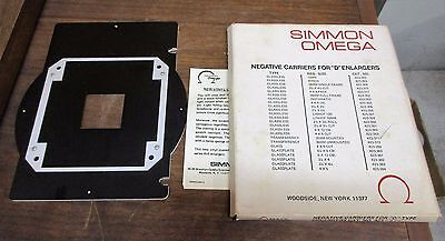 "Simmon Omega Negative Carriers for ""D"" Enlargers 423-371 NOS Transparency 35mm"