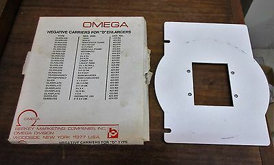 """Omega Negative Carriers for """"D"""" Enlargers 423-354 Glassless 4 x 4 cm."""