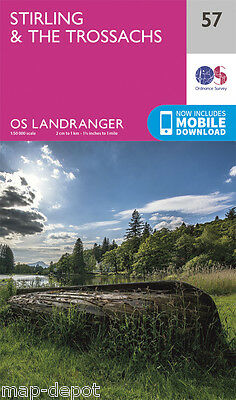 STIRLING & THE TROSSACHS LANDRANGER MAP 57 - Ordnance Survey - OS - NEW 2016