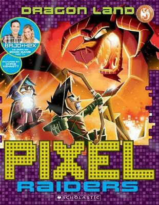 Dragon Land: Pixel Raiders by Bajo & Hex Paperback Book Free Shipping!