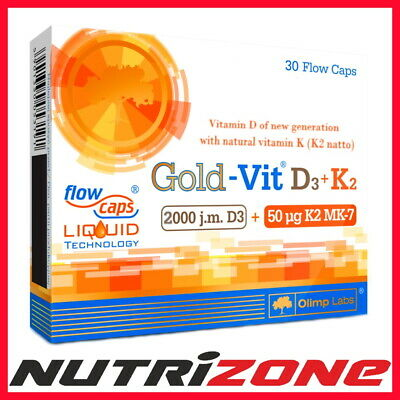 Olimp Gold Vit D3 + K2 Vitamin Complex Healthy Bones Immune System Support