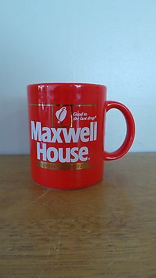 Rare Vintage 1980's Instant MAXWELL HOUSE Coffee Cup/Mug 12 oz. Japan ~ Red