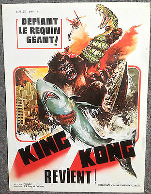 ORIGINAL FRENCH MINI POSTER / SYNOPSIS APE (king kong revient!)