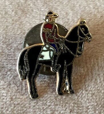 Equestrian Horse and Western Rider Costume Enamel Pin