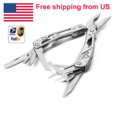 Ganzo G202 Multi Tool Pliers with Specification Screwdriver 24 Tools in One US