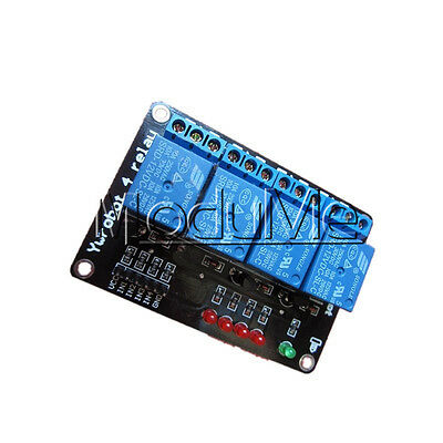 12V Four 4 Channel Relay Module W/ LED Indicator Light For Arduino PIC AVR DSP M