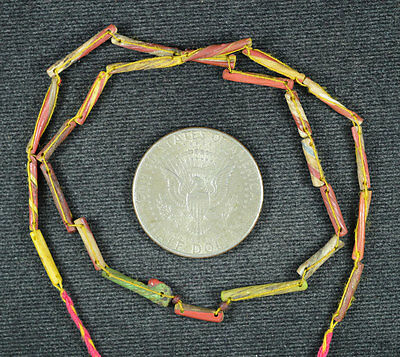 Ancient Roman Glass Beads 1 Strand Twist 100-200 Bc 0628
