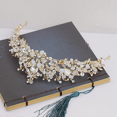 Vintage Wedding Bridal Crystal Rhinestone Crown Tiara Hair Accessories Headbands