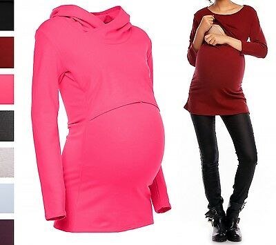 Happy Mama. Women's Nursing Hoodie Breastfeeding Sweatshirt Top Maternity. 347p