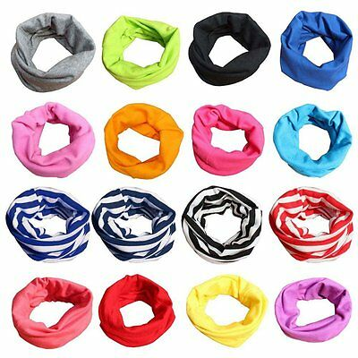 Kid Baby Boy Girl Soft Scarf Cotton Neck Wraps Shawl Neckerchief Toddler Scarves