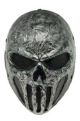 Full Face Wire Mesh Protection Airsoft Paintball Mask Skull Cosplay Halloween