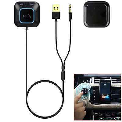 Wireless Car Bluetooth USB AUX Audio Stereo Adapter Music Receiver Handsfree NFC