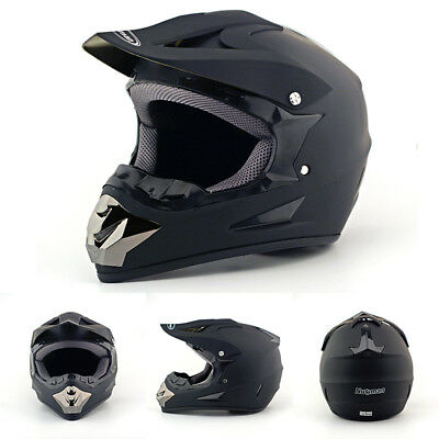 US Men New Motorcycle Matte Black ATV Dirt Bike Off Road Motocross Racing Helmet
