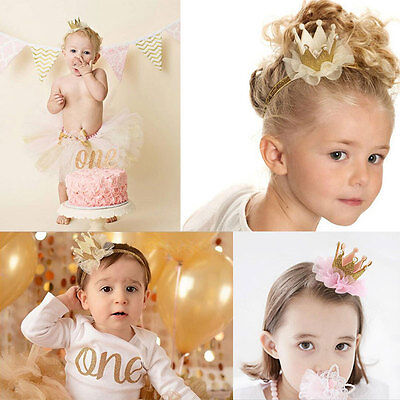New In! Baby Kids Girls Cute Princess Crown Headband Hair Band Headwear Birthday