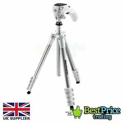 Manfrotto Compact Action Tripod WHITE For Compact & DSLR Digital Cameras
