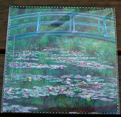 "Glasses Cleaning Cloth ""the Japanese Bridge' By Claude Monet -Comp Screen, Phone"