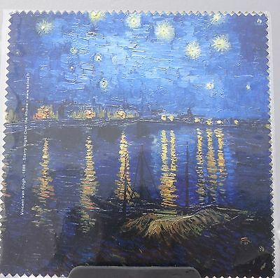 "Glasses Cleaning Cloth "" Starry Night Over The Rhone"" By Vincent Van Gogh"