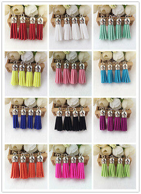10PCs Tassel Pendants Polyester Trim Mixed Craft Applique Jewelry Making DIY