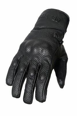 Ventilé Cuir Moto Motocycle Gants Coquille D'articulation Protection