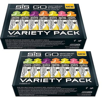 Science in Sport SiS GO Energy Gel Variety Pack 7 Flavours x 2 Boxes