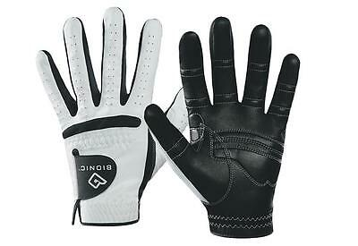 New Bionic Relax Black Palm Golf Glove. Right Handed Golfer. Choose Size.