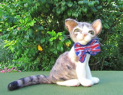 """Unusual Toy,Cat """"Larry"""",Felting.ONLY ONE.OOAK."""