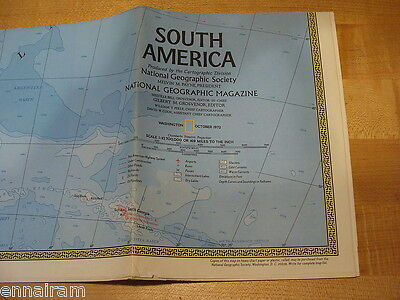 National Geographic Society Map 1972 South America