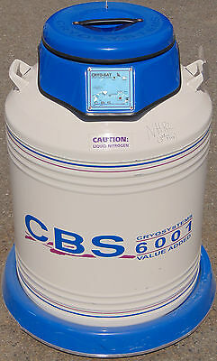 CBS CryoSystems 6001 Liquid Nitrogen Container on casters