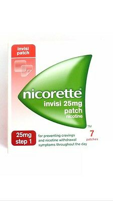 Nicorette Invisi 25mg Patch - Step 1 - 7 Patches. BNIB 100% Auth