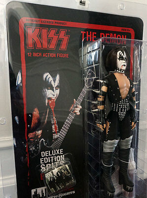 SPITS BLOOD VARIANT KISS 12 Inch Action Figure Gene Simmons Demon