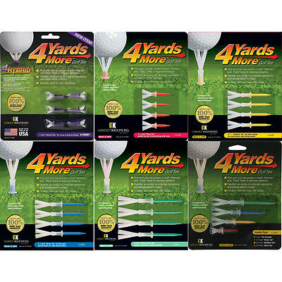 4 Yards More Golf Tees - Multiple Sizes Available