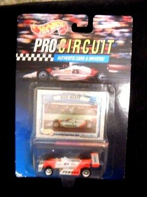 Hot Wheels PRO CIRCUIT Authentic Cars & Drivers Rick Mears Penske Car 1992 - New