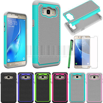 Hybrid Shockproof Cover Rubber Protective Case & LCD For Samsung Galaxy J5 2016