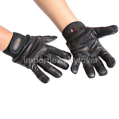 Professional GENIUNE LEATHER Full Finger Gloves Mountaineering Climbing L / XL
