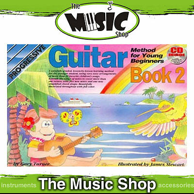 New Progressive Young Beginner Guitar Method Book 2 with CD - Kids Lesson Book