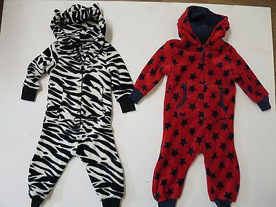 Boys one piece fleece nightwear ex NXT Baby age 2 3 4 5 6 years pyjama