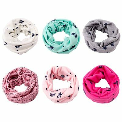 Kids Baby Toddler Winter Cotton Scarves Neck Warps Ring Scarf Shwal Neckerchief