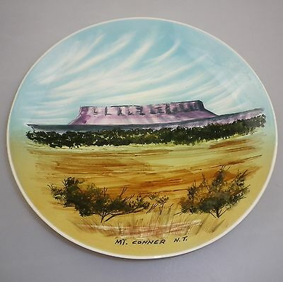 Studio Anna Handpaited Display Plate Depicting Mt Conner Nt