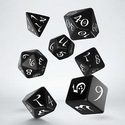 Black-white Classic dice set by Q-workshop