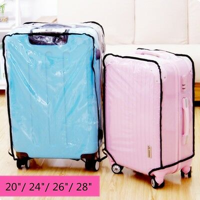 Waterproof Dustproof Clear Protective Travel Luggage Suitcase Cover Case 20-28''