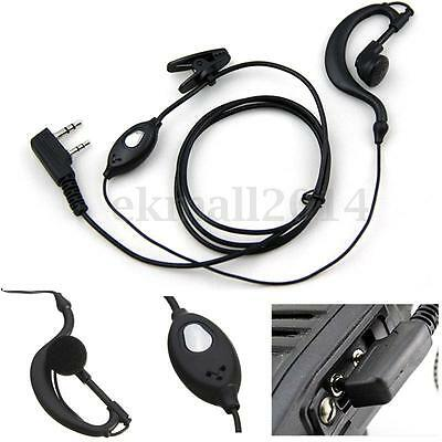 2 Pin Headset Mic Earpiece Earphone for Two Way Radio Security Walkie Talkie New